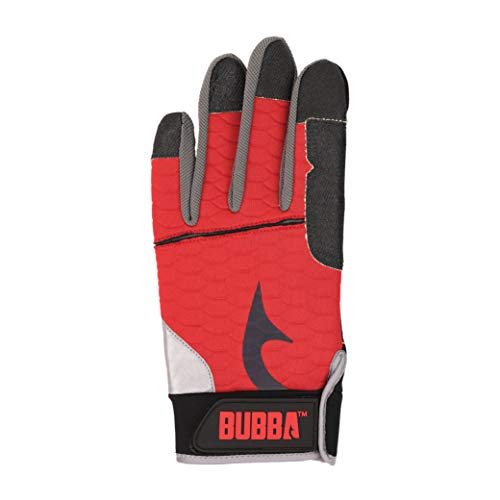 Bubba Ultimate Fillet Gloves with Cut Resistant Kevlar Construction and Touch Screen Usability for Fishing, Angling, Boating and Outdoors, Large