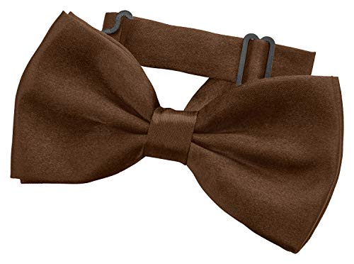 Fanucci braune herren-fliege matt braun schleife damen frauen männer mann hund katze weihnachten mann gebunden bow-tie
