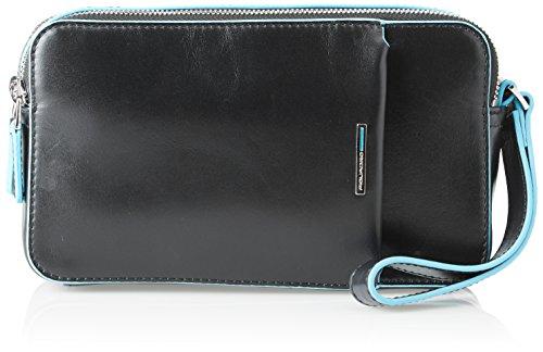 PIQUADRO Blue Square, Portafoglio Unisex-Adulto, Nero, 5x12x21 cm (W x H x L)
