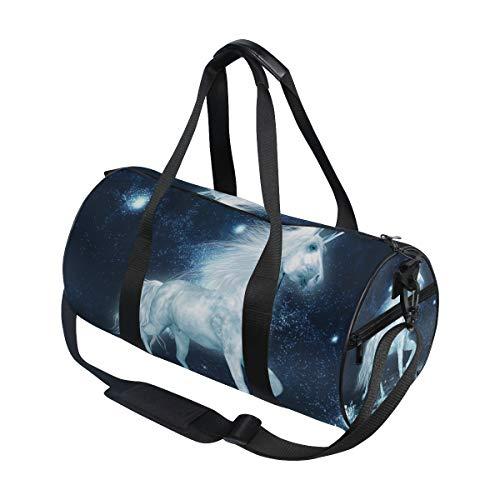 Sporttasche, Reisetasche, Einhorn und Kristallfeldgepäck für Männer und Frauen