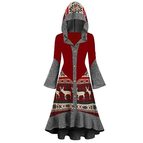 Damen KostüMe Retro Kleid Mit Kapuzen Mittelalter Kleider Gothic Kleidung Umhang Lange ÄRmel DamenkostüMe GroßE GrößEn Oberteil Weihnachten Karneval Pullover Kapuzenkleid