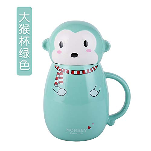HRDZ Vasos para Beber Parejas con Tapas Tazas de cerámica Oficina Tazas para Beber de Gran Capacidad Café