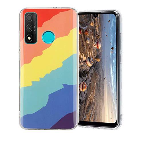 Miagon Bunt Kunst Regenbogen Hülle für Huawei P Smart 2020,Ultra Dünn Silikon TPU Schutzhülle Handyhülle Weiche Stoßfest Anti-Scratch Cover,Köper