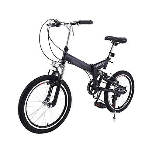 SHUANGA Leichtes Mini Faltrad Kleines tragbares Fahrrad Erwachsener Student 20 Zoll20 Zoll faltbarer Fahrradschieber