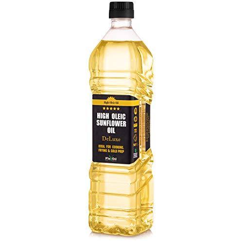 Nouvelle Huile de Tournesol Riche en Acide Oléique de FlavOil, Bouteille de 850 ml - Huile Végétale Bonne pour la Santé, Idéale pour la Friture, la Cuisson et les Plats Froids (0.850 Litre)