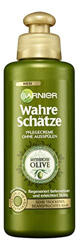 Garnier Wahre Schätze Pflegecreme Mythische Olive, nährt und regeneriert sehr trockenes, beanspruchtes Haar, 3er-Pack (3 x 200 ml)