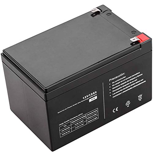 BeMatik - Batería sellada de Plomo-ácido de 12V 12Ah...
