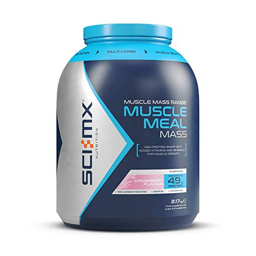 SCI-MX Nutrition Muscle Meal Mass, Protein Powder Mass Shake, 2.17 kg, Strawberry, 14 Servings