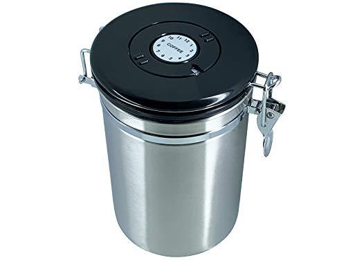 scarlet espresso | Kaffeedose »Ermetica« aus Edelstahl luftdicht - Vorratsbehälter Kaffeebehälter für Kaffeebohnen und mehr (500 g)