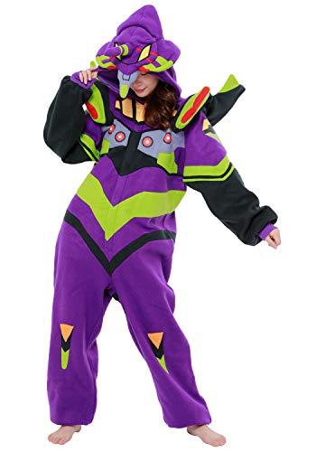 SAZAC Kigurumi - Evangelion Unit-01 - Eva-01 - Onesie Halloween Costume - Adult Purple