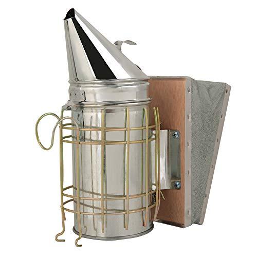 ahumador de colmena seguro y fácil de usar con protector térmico para equipos de apicultura principiantes
