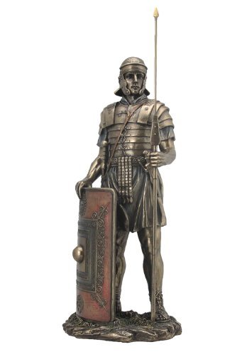 VentaRomano Soldado con jabalina y escudo Escultura