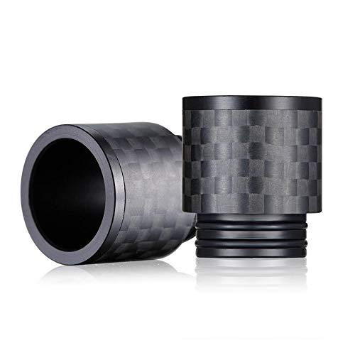 810er Wide Bore Drip Tip aus Carbonfaser mit speziellen Reflektionseffekten DripTip Mundstück