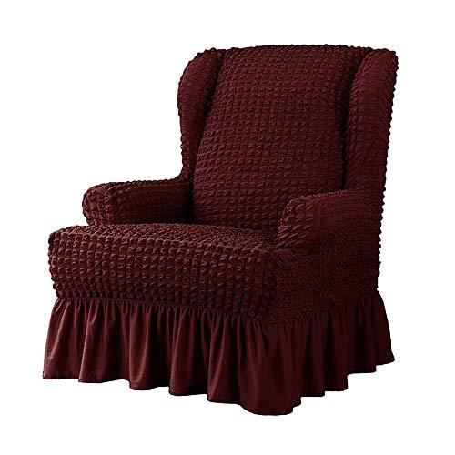 ADELALILI Funda de Sillón Orejero Vino Rojo Relax Sillón de Una Plaza Ajustable Elástica Universal Funda Cubre Sofá Relax Protector para Sofás Cubierta