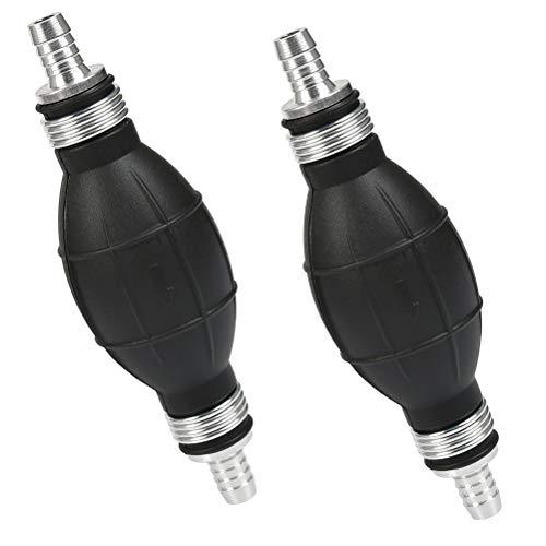 QLOUNI 2 Stück Handpumpe, 8mm Vakuumpumpe, 10mm Notpumpe, manuelle Kraftstoffpumpe Ball, Absaugpumpe für Diesel Benzin Öl Wasser, Umfüllpumpe für Kraftstoffe, Kfz, Garten, Boot Kart Fahrzeug