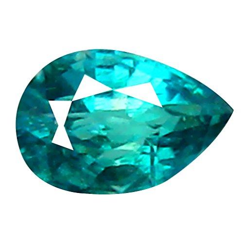 Deluxe Gems Grandidierite Piedra Suelta Floja 0.10 CT VVS Clarity UNHEATED/UNTREATED Pear Cut (4 x 2 mm) Greenish Blue GRANDIDIERITE Gemstone