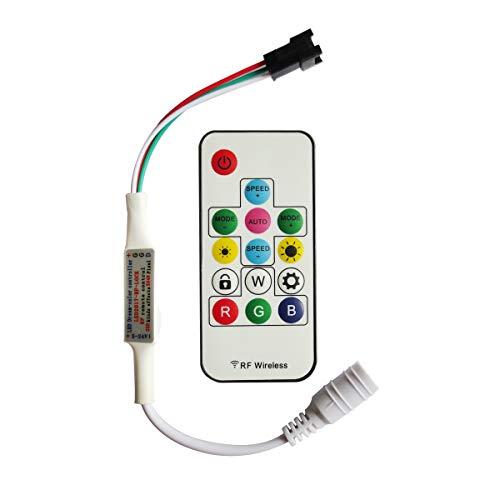 Preisvergleich Produktbild Tesfish 300 arten von veränderungen der digitalen rgb led streifen 14key DC5V / 12V / 24V rf wireless controller mit fernbedienung für ws2812 / ws2811 / ws2812b streifen (Modelle)