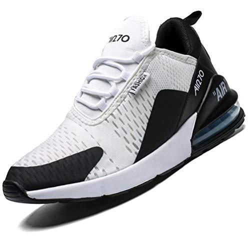 Mabove Laufschuhe Herren Damen Turnschuhe Sportschuhe Straßenlaufschuhe Sneaker Atmungsaktiv Trainer für Running Fitness Gym Outdoor(Schwarz Weiß 9670,45 EU)