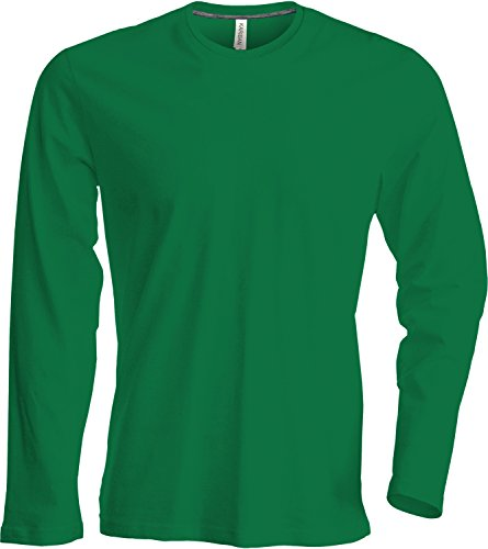 Herren T-Shirt Langarm Rundhals Shirt, Leicht Körperbetont, in 20 Farben und Den Größen S, M, L, XL, 2XL, 3XL u. 4 XL von noTrash2003