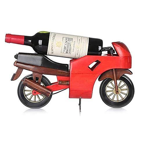 XYUN Estante del Vino sólida casa botellero Motocicleta Madera Viva el Vino Sala de Racks gabinete del Vino Pantalla Regalo de la decoración Estante decoración Estante del Vino