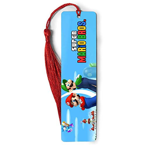 Bookmarks Metal Ruler Super Bookography Mario Measure Bros Tassels Bookworm for Book Markers Lovers Reading Notebook Bookmark Bibliophile Gift