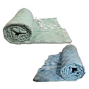 Riyashree Organic Cotton Silky Soft 3D Bhagalpuri Dull chadar Designer Blanket & Comforter ( 52*100 in ) Combo ( Pack of…