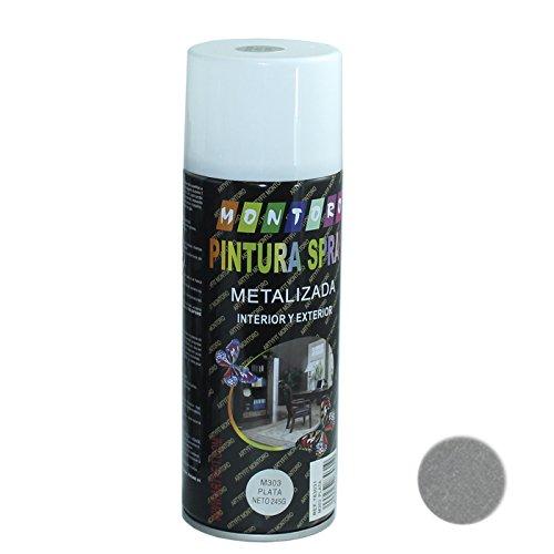 Acan Montoro - Bote de Pintura en Spray Plata M303 400 ml