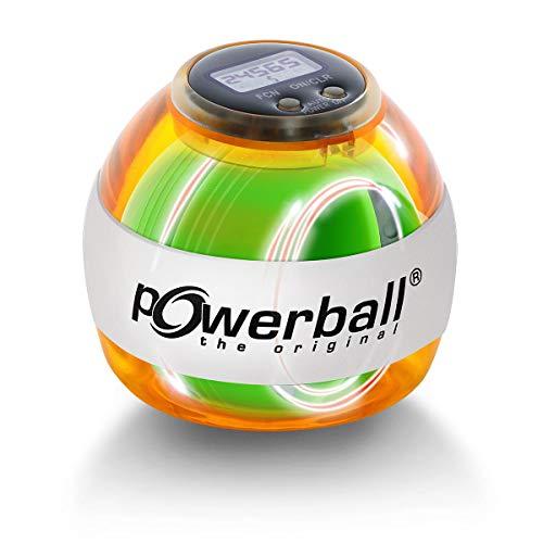 Powerball Max Red, gyroskopischer Handtrainer mit rotem Lichteffekt inkl. Drehzahlmesser, transparent-rot, das Original von Kernpower