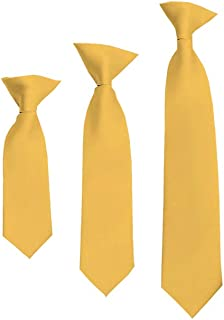 "Solid Honey Gold Boy's 11"" Clip On Tie"