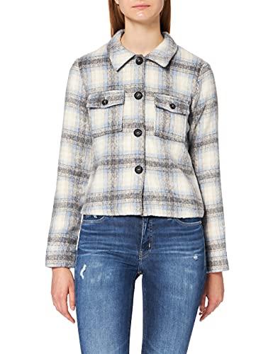 ONLY Damen ONLLOU Short Check Jacket OTW NOOS Jacke, Pumice Stone/Checks:Allure, S