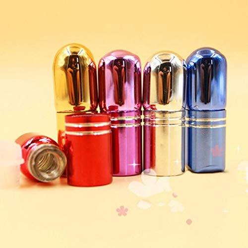 SAIBAO 5 ML Mini Vidrio Vacío Recargable Bolsillo Portátil Trave Pequeño Mini Perfume Envasado Mist Spray Botella Dispensador Atomizador-1pcs Aleatorio 2ML