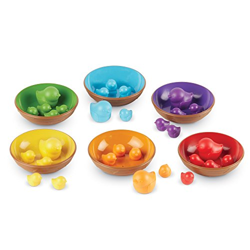 Learning Resources Birds in a Nest Sorting Set  Fine Motor Set  36 Pieces  Ages 3+