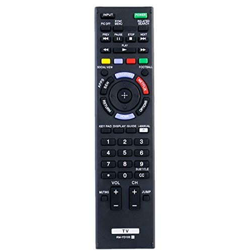 New RM-YD103 Remote Control fit for Sony LED Smart HDTV KDL32W700B KDL40W580B KDL40W590B KDL40W600B KDL42W700B KDL48W580B KDL48W590B KDL48W600B KDL50W700B with Netflix Button (RMYD103)(149276711)