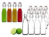 BigDean 12x Glasflasche 500ml Bügelverschluss Milchflasche Saftflasche Ölflasche...