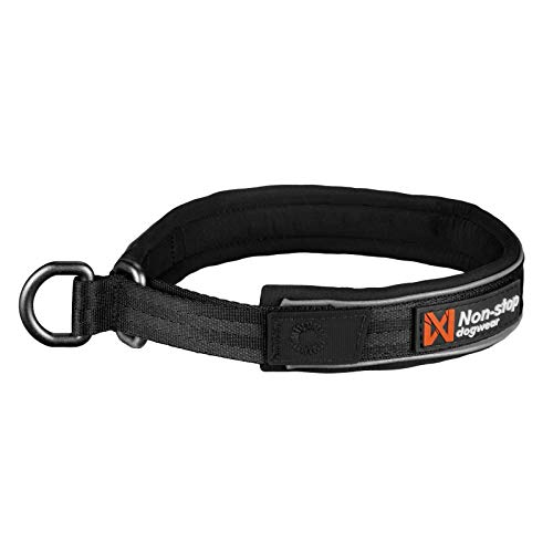 Non-stop dogwear Cruise Collar Black | Halsband mit Zugstopp - Das Bequeme, Größe:S