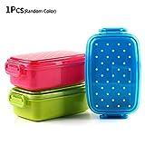 Folewr-8 Fiambrera - Fiambrera Punto 1PC para Los Niños De Picnic Depósito De La Escuela para La Comida Bento Sushi Box (Color Al Azar)