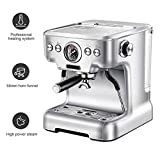 Automatic Espresso Machine High Power Steam 20bar Super Coffee and Cappuccino Machine 58mm Professional Funnel - Household Office Commercial ZHHIS