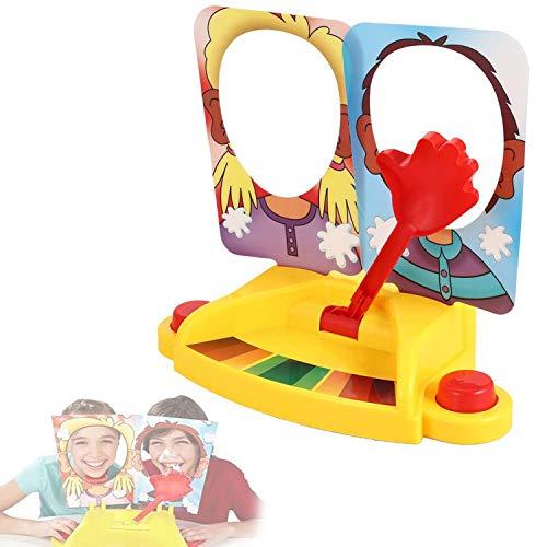 Buyi-World Pie Face Game Kuchengesicht Showdown Spiel, Sahnestarkes Familienspiel wer bekommt die Sahne ins Gesicht Gemeinschaftsspiel für Kindergeburtstag Partyspiel