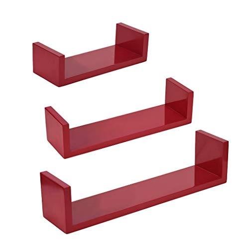 Wall Control Pegboard Shelf 6in Deep Pegboard Shelf Assembly for Wall Control Pegboard and Slotted Tool Board – Red