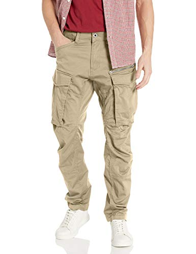G-STAR RAW Rovic Zip 3D Straight Tapered Pantaloni, Beige (dune 5126-239), 32W / 32L Uomo