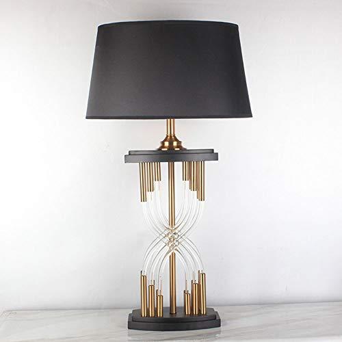 Lámpara de mesa Tyxl Mesa De Cristal De La Personalidad De La Moda Estadounidense Lámparas Habitación De Hotel Estudio Lámpara De Escritorio 40cm * 40cm * Los 77CM