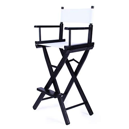 C-K-P Klappstuhl Portable Hochstuhl Holz Klappstuhl Hochstuhl Schwarz Hoch Make-up Stuhl (Farbe : C)