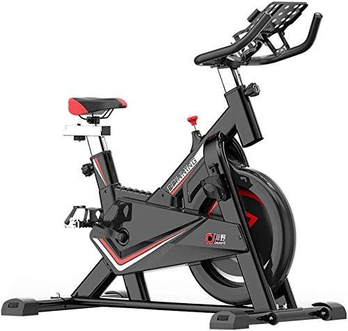 Equipo de fitness para bicicleta de ciclismo interior con sistema de accionamiento por correa de bajo ruido y manillar y asiento ajustables.