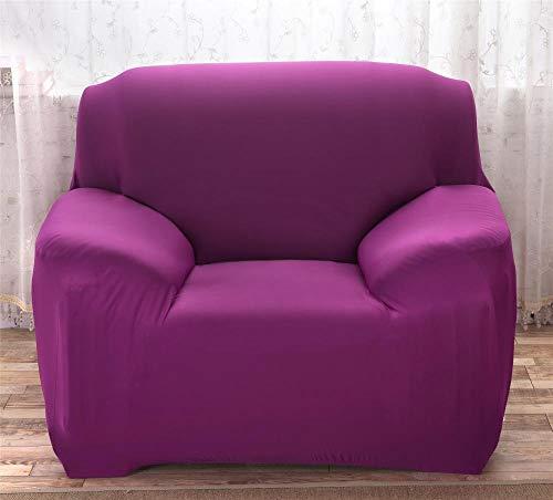 CC.Stars Elastischer Sofabezug Sofahusse 3 Sitzer Sofa 1 Stück Stretch Sofabezug, elastischer Sessel Möbelbezug/Schutzkissen-Candy Purple_145-185cm