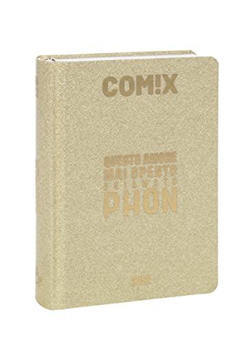 Comix - Diario 2021/2022 16 Mesi - Gold Glitter scritta Oro - Standard
