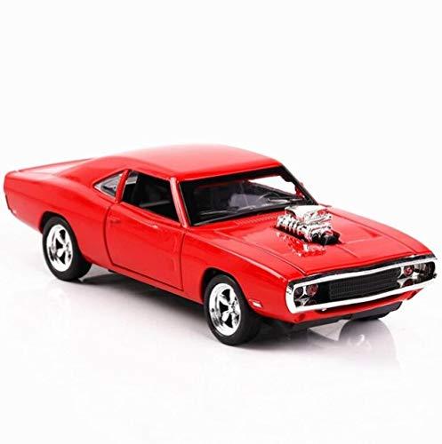 HAOSHA 1/32 gietijzer en speelgoedauto met toon- en lichtverzameling, speelgoedauto en huishoudtextiel, rood