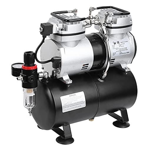 Compresor Airpower Whisper compresor de aire comprimido, juego con aerógrafo y accesorios aerógrafo, kit de arranque profesional 220 V (EU)