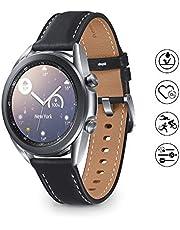 Samsung Galaxy Watch 3 Smartwatch Bluetooth, behuizing 41 mm, staal, lederen band, satuurmeter, valherkenning, sportbewaking, 48,2 g, accu 247 mAh, IP68, Mystic Silver [Italiaanse versie]