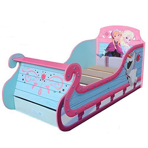 Unbekannt Disney Frozen Sleigh Carriage Toddler Bed Eiskönigin Schlitten Bett Prinzessinnen Kinderbett Aufbewahrung