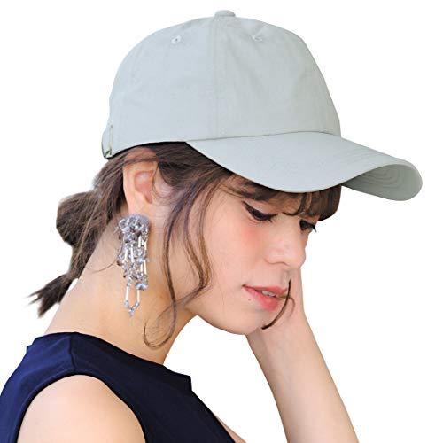 帽子 深め 夏 大きめ 無地 シンプルキャップ 黒 大きいサイズ ゴルフ ランニング 14+ 14プラス イチヨンプラス icap0302-01-gn
